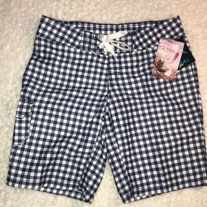 Kanu Board Shorts Misses Lilly Navy White 0 NWT